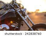 motorcycle detail closeup front ... | Shutterstock . vector #242838760