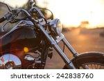 Motorcycle Detail Closeup Fron...