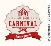 carnival design over white... | Shutterstock .eps vector #242839969