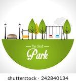 Park Design Over White...