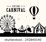 carnival design over white... | Shutterstock .eps vector #242840140