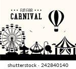 carnival design over white... | Shutterstock .eps vector #242840140