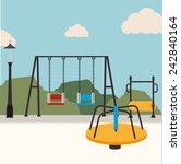 park design over landscape...   Shutterstock .eps vector #242840164