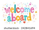 welcome aboard typography... | Shutterstock .eps vector #242841694
