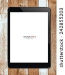 digital tablet with blank... | Shutterstock .eps vector #242855203