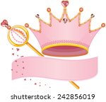 set of royal regalia with copy... | Shutterstock .eps vector #242856019