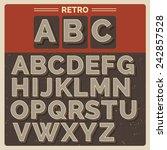 retro vector latin type  font   ... | Shutterstock .eps vector #242857528