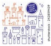 make your own castle. hand...   Shutterstock .eps vector #242859439