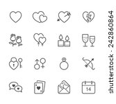 valentine's day icons | Shutterstock .eps vector #242860864