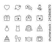 wedding and love icons | Shutterstock .eps vector #242860870