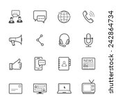 communication icons | Shutterstock .eps vector #242864734