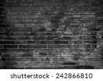 brick wall background in black... | Shutterstock . vector #242866810