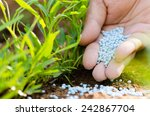 farmer hand giving chemical... | Shutterstock . vector #242867704