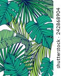 tropical island leaf vector... | Shutterstock .eps vector #242868904