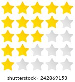 simple rounded star rating.... | Shutterstock .eps vector #242869153