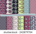 set of  abstract vector paper... | Shutterstock .eps vector #242879704