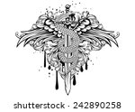 abstract vector illustration... | Shutterstock .eps vector #242890258