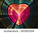 Shiny Colorful Fractal Heart ...