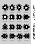 vector   16 circle music icons  | Shutterstock .eps vector #242902594