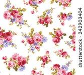 pattern of rose  | Shutterstock .eps vector #242903404