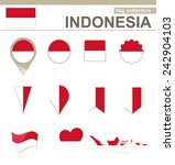 Indonesia Flag Collection  12...