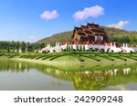 ho kham luang at royal flora... | Shutterstock . vector #242909248