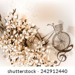 floral retro background with...   Shutterstock .eps vector #242912440