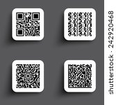 icons simple qr code | Shutterstock .eps vector #242920468