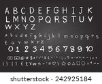 hand drawn fonts. uppercase... | Shutterstock .eps vector #242925184