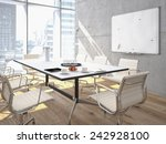 conference room interior with a ... | Shutterstock . vector #242928100