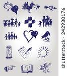 set of handmade vector symbols  | Shutterstock .eps vector #242930176