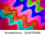 colorful waved background... | Shutterstock . vector #242935084