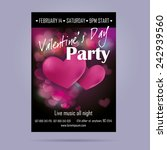 Template Flyer For Valentine's...
