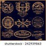 vintage tee graphic | Shutterstock .eps vector #242939863