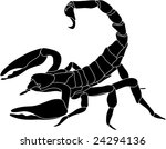 vector   color scorpion... | Shutterstock .eps vector #24294136