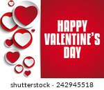 vector   valentine day i love... | Shutterstock .eps vector #242945518
