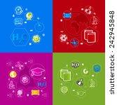 education sticker infographic | Shutterstock .eps vector #242945848