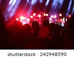 crowd on a concert | Shutterstock . vector #242948590