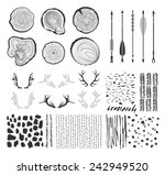 big set with  tree rings ... | Shutterstock .eps vector #242949520