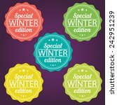 winter offer stickers. special... | Shutterstock .eps vector #242951239