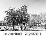 barcelona  spain   mar 15  2014 ... | Shutterstock . vector #242957848
