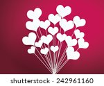 valentines day heart balloons...   Shutterstock .eps vector #242961160