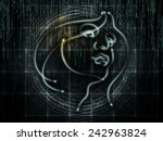 human geometry series. backdrop ... | Shutterstock . vector #242963824