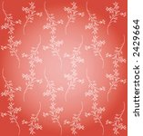 red floral background | Shutterstock .eps vector #2429664