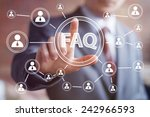 business button faq connection... | Shutterstock . vector #242966593