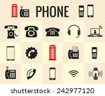 icons phone and modern forms of ... | Shutterstock .eps vector #242977120