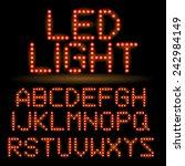 led alphabet set | Shutterstock .eps vector #242984149