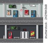 flat design of underground... | Shutterstock .eps vector #242984368