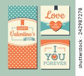 vintage happy valentines day... | Shutterstock .eps vector #242987278