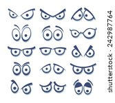 set of cartoon eyes.  | Shutterstock .eps vector #242987764